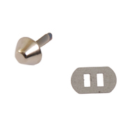 Пукля металл К3130 12*12*6 мм  514088 никель