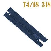 Молния Т4 спираль брючн. п/авт. 18 см 318К т.-син.
