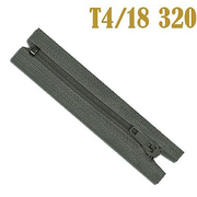 Молния Т4 спираль брючн. п/авт. 18 см 320 серо-син.