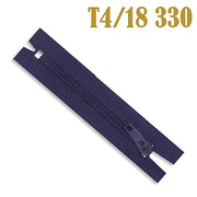 Молния Т4 спираль брючн. п/авт. 18 см 330 т.-син.