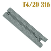 Молния Т4 спираль брючн. п/авт. 20 см 316 серо-гол.