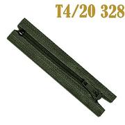 Молния Т4 спираль брючн. п/авт. 20 см 328 т. хаки