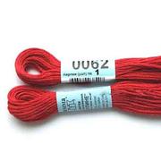 Мулине х/б 8 м Гамма, 0062 красный