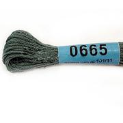 Мулине х/б 8 м Гамма, 0665 т.-серый