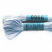 Мулине х/б 8 м Гамма, 0966 св.-голубой