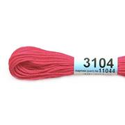 Мулине х/б 8 м Гамма, 3104 ярко-розовый