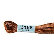 Мулине х/б 8 м Гамма, 3186 св.-коричневый