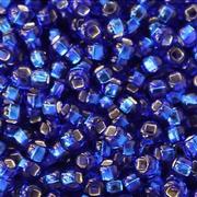Бисер Preciosa Чехия (уп. 5 г) 37080 синий с серебр. центром