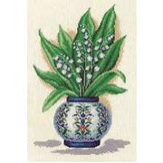 Набор для вышивания Кларт 8-082 «Ландыши в китайской вазе» 22*32 см