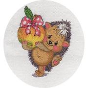 Набор для вышивания Кларт 8-131 «Ёжик с яблоком» 16*20 см