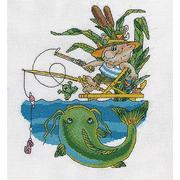 Набор для вышивания Кларт 8-162 «Рыбак в полном снаряжении» 23*20 см