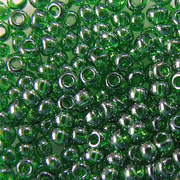 Бисер Preciosa Чехия (уп. 5 г) 56120 зеленый прозрачный перламутровый