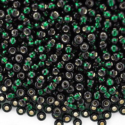 Бисер Preciosa Чехия (уп. 5 г) 57150 т.-зеленый с серебр. центром