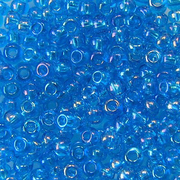 Бисер Preciosa Чехия (уп. 5 г) 61030 голубой прозрачный радужный