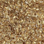 Бисер Preciosa Чехия (уп. 5 г) 68106 прозрачный с бронзовым центром