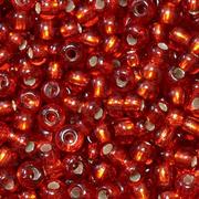 Бисер Preciosa Чехия (уп. 5 г) 97050 красный с серебр. центром