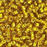 Бисер Preciosa Чехия (уп. 10 г) 17050 золотистый с серебр. центром