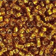 Бисер Preciosa Чехия (уп. 10 г) 17090 т.-золотистый с серебр. центром
