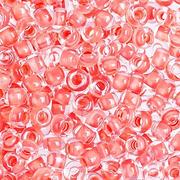 Бисер Preciosa Чехия (уп. 10 г) 38689 оранжевый прозрачный с цветным центром