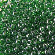 Бисер Preciosa Чехия (уп. 10 г) 56120 зеленый прозрачный перламутровый