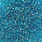 Бисер Preciosa Чехия (уп. 10 г) 67150 голубой с серебр. центром