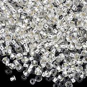Бисер Preciosa Чехия (уп. 10 г) 78102 белый с серебр. центром