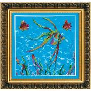 Набор для вышивания бисером Абрис АВ-084 «Рыбки-2» 23*23 см