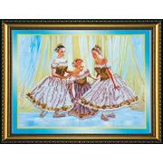 Набор для вышивания бисером Абрис АВ-087 «Танцовщицы» 30*23 см