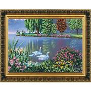 Набор для вышивания бисером Абрис АВ-096 «Лебединая песня» 43*32 см