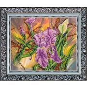Набор для вышивания бисером Абрис АВ-183 «Бордосский жемчуг (ирисы)» 37*30 см