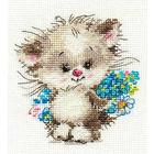 Набор для вышивания Алиса 0-126 «Моей киске» 10*11 см