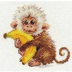 Набор для вышивания Алиса 0-127 «Обезьянка» 12*11 см