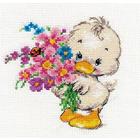 Набор для вышивания Алиса 0-130 «Желаю счастья!» 12*12 см