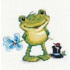 Набор для вышивания Алиса 0-131 «Ква-а!» 12*11 см
