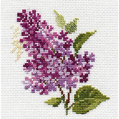 Набор для вышивания Алиса 0-138 «Веточка сирени» 11*11 см в интернет-магазине Швейпрофи.рф