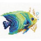 Набор для вышивания Алиса 0-150 «Тропические рыбки. Изумрудная» 8*7 см