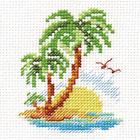 Набор для вышивания Алиса 0-155 «Пальмовый островок» 6*8 см