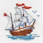 Набор для вышивания Алиса 0-159 «Кораблик» 7*8 см