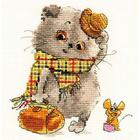 Набор для вышивания Алиса 0-177 «Басик и Милена» 13*13 см