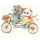 Набор для вышивания Алиса 0-178 «Басик и Ли-Ли» 20*15 см