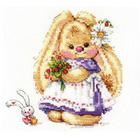 Набор для вышивания Алиса 0-179 «Зайка Ми. Земляника» 13*13 см