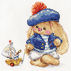 Набор для вышивания Алиса 0-180 «Зайка Ми. Моряк» 14*14 см