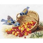 Набор для вышивания Алиса 1-14 «Синички и черешня» 32*24 см