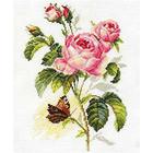 Набор для вышивания Алиса 2-13 «Роза и бабочка» 17*25 см