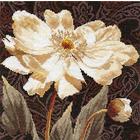 Набор для вышивания Алиса 2-18 «Белые цветы. В объятиях света» 25*25 см