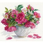 Набор для вышивания Алиса 2-25 «Цветущий сад. Розы и ромашки» 30*26 см