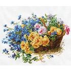 Набор для вышивания Алиса 2-27 «Розы и васильки» 40*30 см