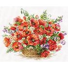 Набор для вышивания Алиса 2-28 «Корзина маков» 40*30 см