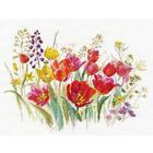Набор для вышивания Алиса 2-34 «Полевые тюльпаны» 30*21 см