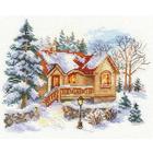 Набор для вышивания Алиса 3-22 «Февральский домик» 18*14 см